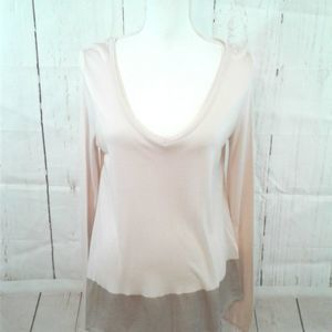Anthropologie Three Dots Pink Blouse Med